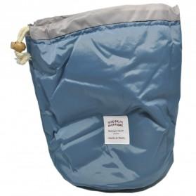 Tas Travel Desain Barrel Perlengkapan Kosmetik - Blue