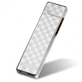 Korek Elektrik Aluminium USB Cigarette Lighter Heating Coil - Silver