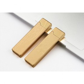 JINLUN Korek Elektrik Aluminium USB Cigarette Lighter Coil - JL882 - Golden - 2
