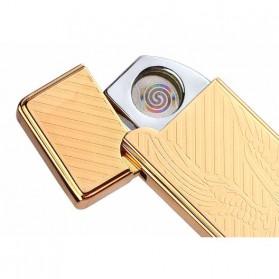 JINLUN Korek Elektrik Aluminium USB Cigarette Lighter Coil - JL882 - Golden - 3