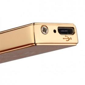 JINLUN Korek Elektrik Aluminium USB Cigarette Lighter Coil - JL882 - Golden - 4