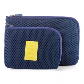 Tas Travel Polyester Mesh Size S - Blue - 2