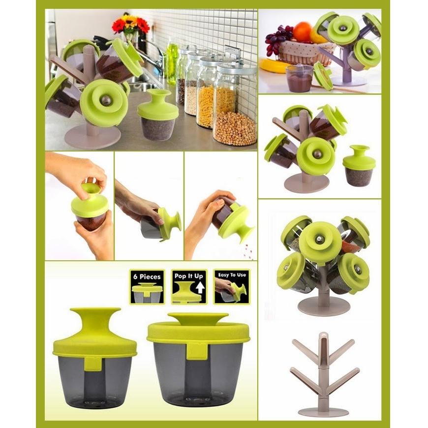 ... Kitchen Wall Stickers / Stiker Dinding Anti Minyak - Green. Print. Paket Abang None Pop-Up Spice Rack / Tempat Bumbu - Green + Anti Oil ...