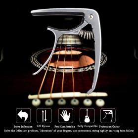 SLOZZ Capo Gitar Chord Acoustic Standart Aluminium Alloy - M556 - Black - 9