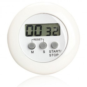 Timer Masak Dapur 5 Color Digital Alarm Minimalis Time Machine - White