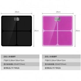 Taffware Digipounds Timbangan Badan Kaca Elektronik 180KG - SC-05 - Pink - 6
