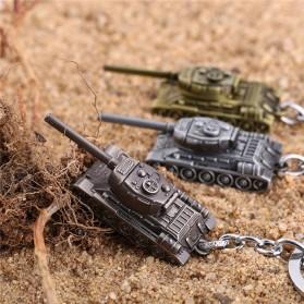 Gantungan Kunci Mobil Tank Baja Key Chain - Golden - 2