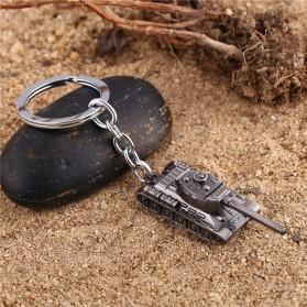 Gantungan Kunci Mobil Tank Baja Key Chain - Golden - 3