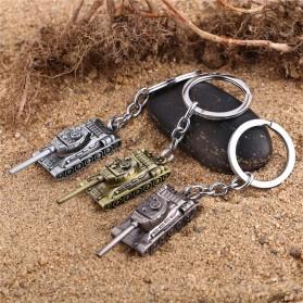 Gantungan Kunci Mobil Tank Baja Key Chain - Golden - 4