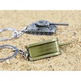 Gantungan Kunci Mobil Tank Baja Key Chain - Golden - 5