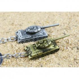 Gantungan Kunci Mobil Tank Baja Key Chain - Golden - 6