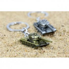 Gantungan Kunci Mobil Tank Baja Key Chain - Golden - 7
