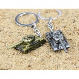 Gantungan Kunci Mobil Tank Baja Key Chain - Golden - 8