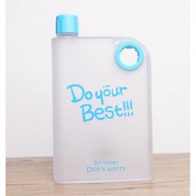 Memobottle Botol Minum Flat 380ml - Blue