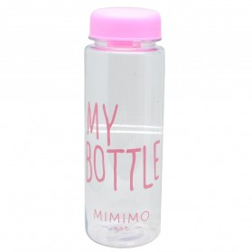 Botol Minum Plastik Bening Juice Lemon My Bottle 500ml - Pink