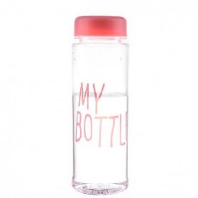 Botol Minum Plastik Bening Juice Lemon My Bottle 500ml - Pink - 2