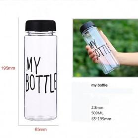 Botol Minum Plastik Bening Juice Lemon My Bottle 500ml - Pink - 4