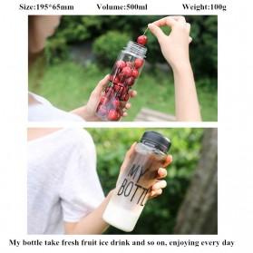 Botol Minum Plastik Bening Juice Lemon My Bottle 500ml - Pink - 7