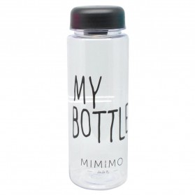 Botol Minum Plastik Bening Juice Lemon My Bottle 500ml - Black