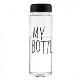 Botol Minum Plastik Bening Juice Lemon My Bottle 500ml - Black - 2