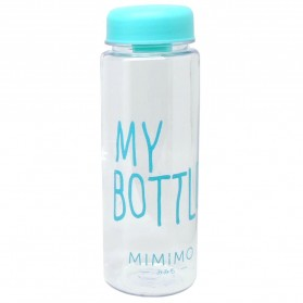 Botol Minum Plastik Bening Juice Lemon My Bottle 500ml - Blue