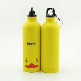 Botol Minum Kartun 500ml dengan Karabiner - Yellow - 2
