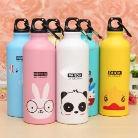 Botol Minum Kartun 500ml dengan Karabiner - Pink - 5