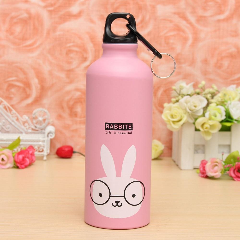 ... Botol Minum Kartun 500ml dengan Karabiner - Pink - 1 ...
