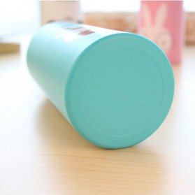Botol Minum Kartun 500ml dengan Karabiner - Cream - 9