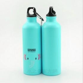 Botol Minum Kartun 500ml dengan Karabiner - Blue - 2