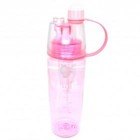 New B Botol Minum BPA Free dengan Sprayer 600ml - Pink - 1