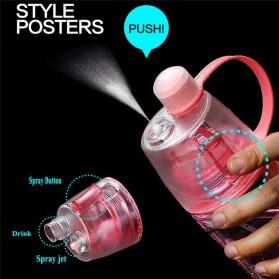 New B Botol Minum BPA Free dengan Sprayer 600ml - Pink - 5