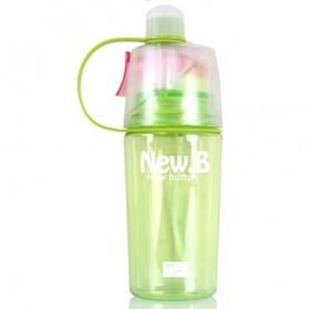New B Botol Minum Dengan Sprayer 400ml - SM-8510 - Green