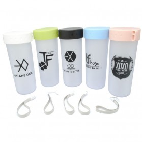 Botol Gelas Tumbler Logo Exo 400ml - Multi-Color