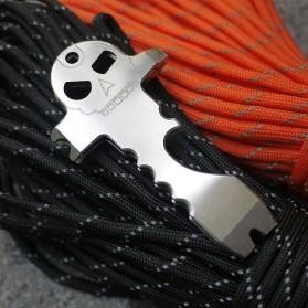Skull Crowbar Screwdriver EDC Multifunction Tool - Silver