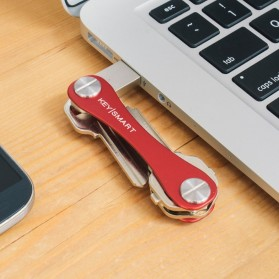Keysmart Swiss Army Style Keychain Organizer and Holders Expansion Pack - L Size - Red - 5