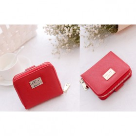 Dompet Wanita Leather Small Bag - Red - 3