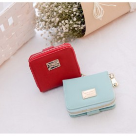 Dompet Wanita Leather Small Bag - Red - 12