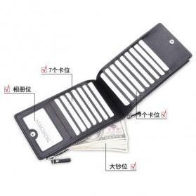 Hengsheng Dompet Kulit Pria Resleting Ganda - SX006-5 - Black - 3