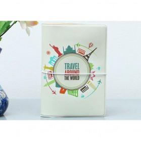 Cover Passport dan Kartu Kredit - White