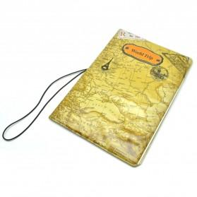 Cover Passport dan Kartu Kredit - Brown - 1