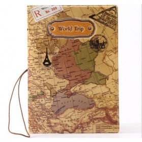 Cover Passport dan Kartu Kredit - Brown - 2