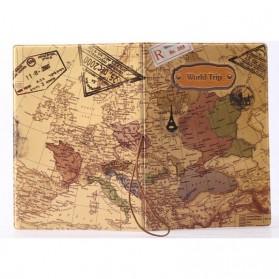 Cover Passport dan Kartu Kredit - Brown - 3