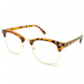 SOZO Kacamata Vintage Pria & Wanita - TR7 - Brown - 1
