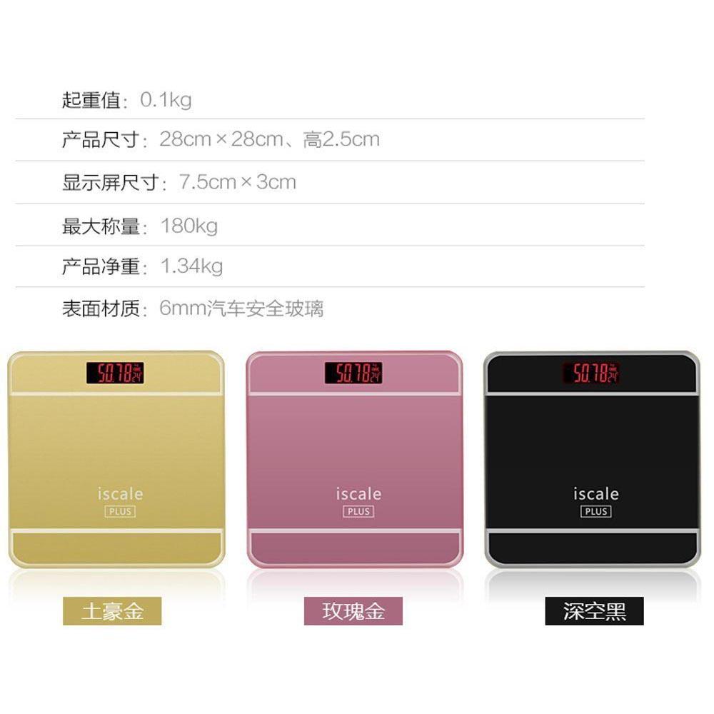 Timbangan Badan Digital Dengan Indikator Suhu Taffware Sc 09 Desain Kartun 180kg Pink 11