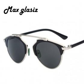 Maxglasiz Kacamata Hitam Vintage Sunglasses untuk Pria & Wanita - Black