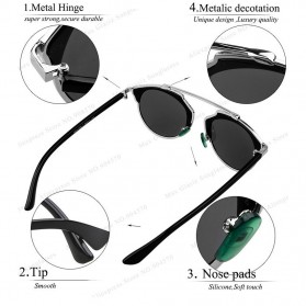 Maxglasiz Kacamata Hitam Vintage Sunglasses untuk Pria & Wanita - Black - 2