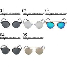 Maxglasiz Kacamata Hitam Vintage Sunglasses untuk Pria & Wanita - Black - 4