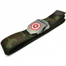 Capta America Ikat Pinggang Pria Canvas Buckle Belt - Camouflage