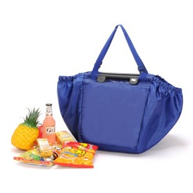 Tas Belanja Lipat Trolley Shopping Bag - Dark Blue